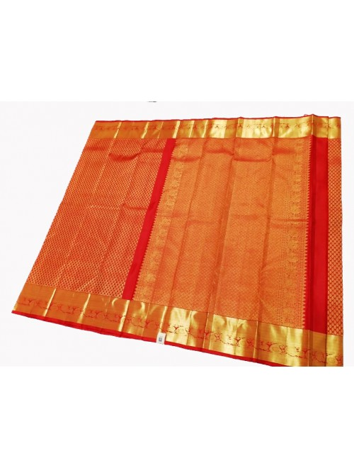 Handloom Kanchipuram Wedding Pure Silk Red Saree For Women & Girls By Sri Sarvalakshmi Silk Sarees