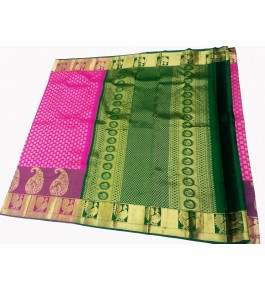 Kancheepuram Silk  Wedding Pure Silk Pink Saree For Women & Girls By Sri Sarvalakshmi Silk Sarees