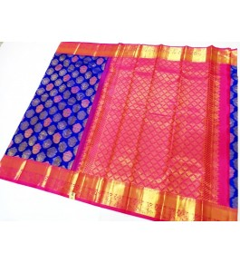 Kancheepuram Silk  Wedding Pure Silk Blue Saree For Women & Girls By Sri Sarvalakshmi Silk Sarees
