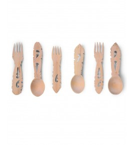 Handmade Beautiful Udayagiri Wooden Cutlery Eating Spoon Set of 6