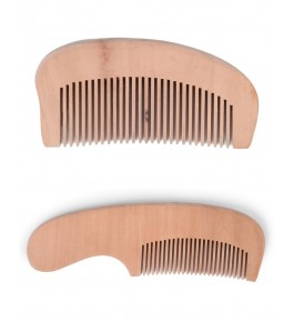 Handmade Beautiful Udayagiri Wooden Cutlery Comb for Hair Set of 2