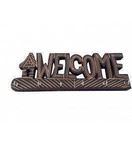 Wooden Key Holder Welcome Shape By Shakir Rabbani Wood Handicraft