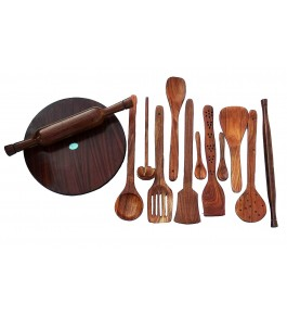 Saharanpur Wood Craft Wooden Kitchen Accessories 13 Piece Set By Shakir Rabbani Wood Handicraft