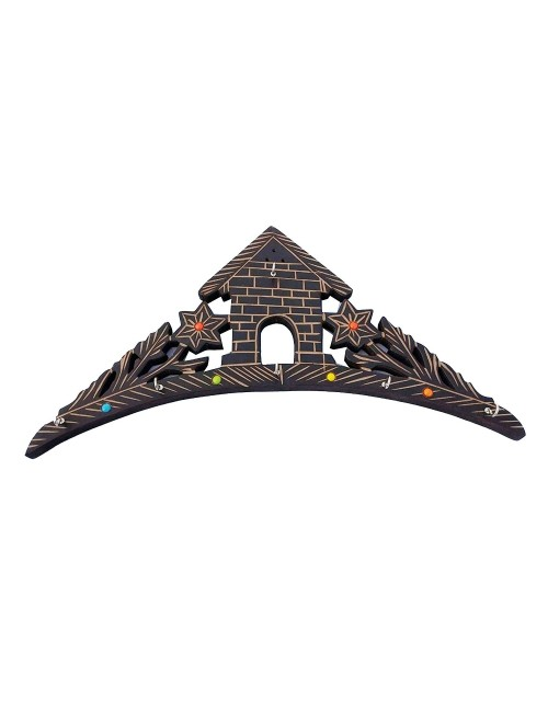 Saharanpur Wood Craft Wooden Key Holder Antique Piece By Shakir Rabbani Wood Handicraft