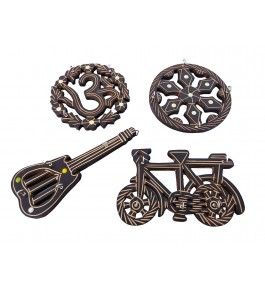 Wooden Key Holder Antique Piece (Pack Of 4) By Shakir Rabbani Wood Handicraft