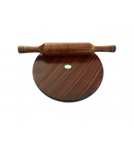 Wooden Kitchenwear Chakla Belan By Shakir Rabbani Wood Handicraft