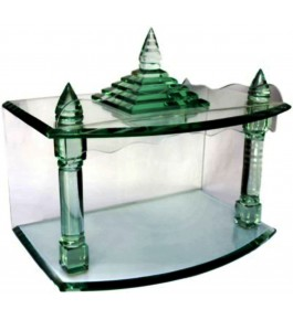 Firozabad Glass Handmade Temple (12x9x18) By Shameem Enterprises