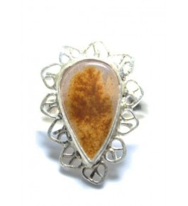 Shazar Stone Unique Design Dendritic Ring Of Banda For Women