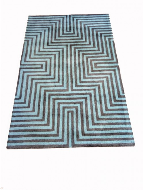 Hand Tufted Durable Quality Woolen & Viscose Durrie By Vinay Carpet