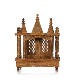 Shilpi Handicraft Traditional Wooden (Sheesham) Temple/Pooja Ghar/Wooden Mandir