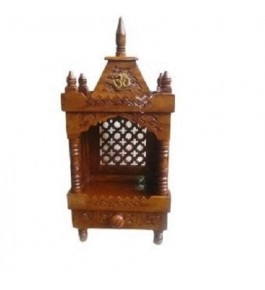 Shilpi Handicraft Wooden (Sheesham) Temple/Pooja Ghar/Wooden Mandir