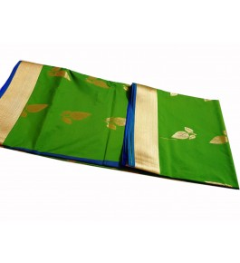 Salem Pure Silk Saree With Contrast Blouse and Pallu For Women