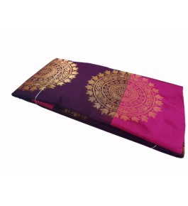 Salem Silk Cotton Deep Violet Saree With Zari Pallu For Women