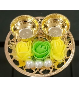 Handmade Decorative Haldi & Kumkum Plate For Diwali By Indian Festival Product & Gift Items