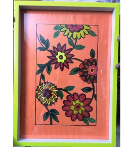 Acrylic Hand Painted Wooden Tray By Purple Haze
