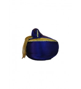 Traditional Historical Royal Puneri Pagdi Of Maharashtra For Men In Dark Blue Colour By Someswar Pagadi Makers