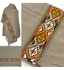 Kinnauri Shawl Handwoven & Crafted Woolen For Women By Kullu Fab