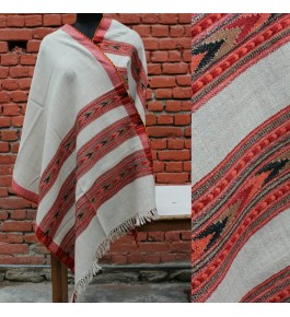 Handwoven & Crafted  Kullu Woolen Shawl For Women By Kullu Fab