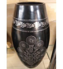 Handmade Beautiful Authentic Black Pottery Jar