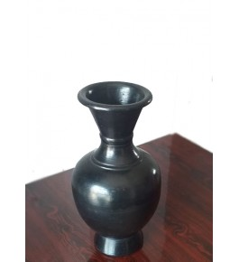 Handmade Beautiful Authentic Black Pottery Flower Vase For Home/Office Decor