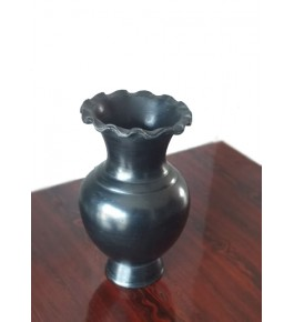 Handmade Beautiful Authentic Black Pottery Flower Vase For Home/Office/Indoor Decor