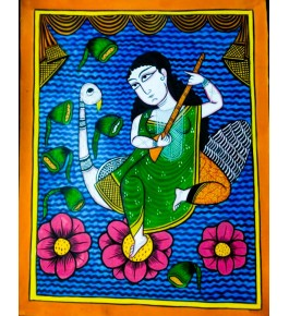 Bengal Patachitra Painting of a Woman by Susnova Chitrakar