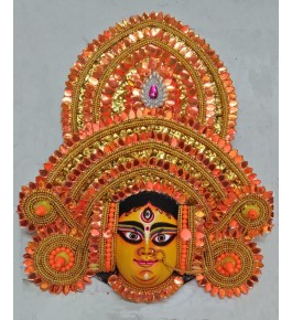 Handmade Traditional Purulia Chau Goddess Face Mask