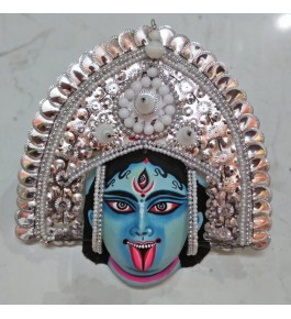Traditional Purulia Chau Goddess Face Design Mask