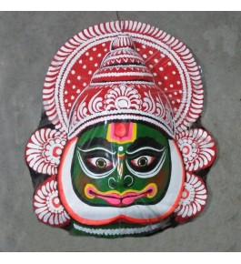 Handmade Purulia Chau Folk Dancer Design Face Mask