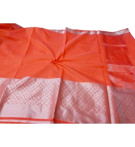 Handloom Banarasi Silk Red Zari Saree By Loolu Silk Craft