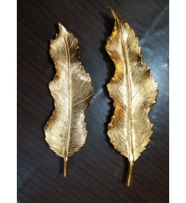 Moradabad Metal Craft Leaf Platter (Set Of 2) By Tijarat Metal Handicrafts