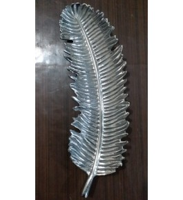 Moradabad Metal Craft Leaf Platter By Tijarat Metal Handicrafts