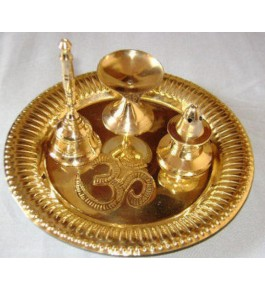Moradabad Metal Craft Pooja Thali By Tijarat Metal Handicrafts