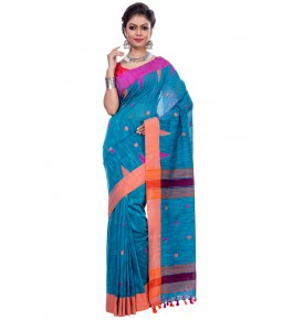 Handloom Premium Khadi Cotton Jandani Sarees With Blouse For Women By TJ Saree