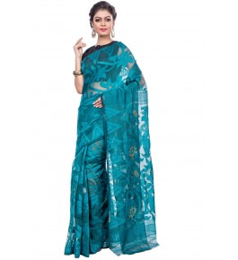 Handloom Premium Resham Dhakai Jamdani Saree For Women By T J Sarees