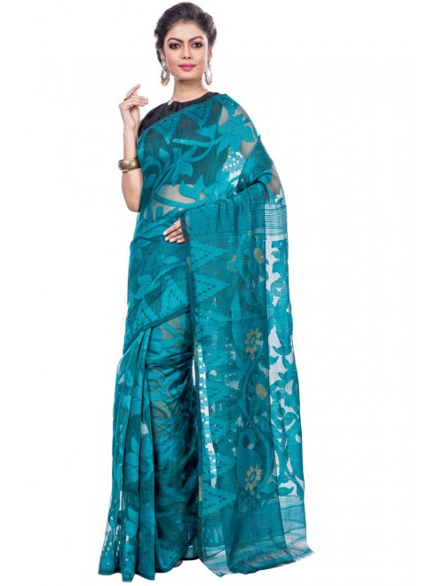 Handloom Premium Resham Santipore Saree For Women By T J Sarees