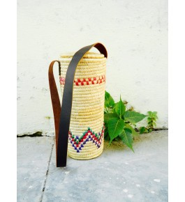 Hand Woven Natural Grass Moonj In Bottle Bag By Utkarsh Handicraft