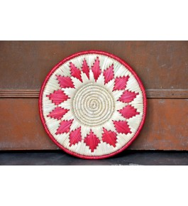 Hand Woven Natural Grass Moonj Decorative Wall Hanging By Utkarsh Handicraft