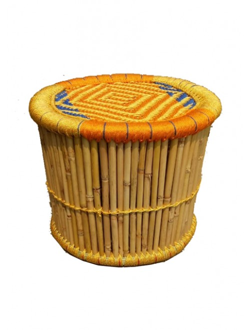 Hand Woven Natural Grass Moonj Stool By Utkarsh Handicraft