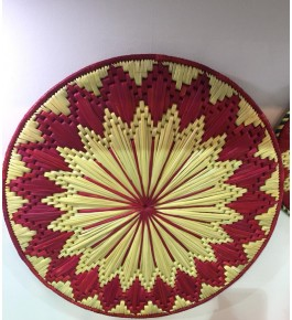 Hand Woven Natural Grass Moonj Wall Hanging By Utkarsh Handicraft