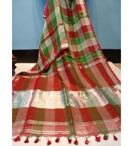 Bhagalpur Handloom Silk Multicolor Saree For Women By Valid Fashion