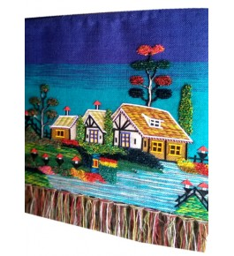 Beautiful Ghazipur Wall Hanging Patchwork Scenery for Wall Decor