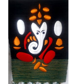Beautiful Handmade Ghazipur Patchwork of Lord Ganpati Wall Hanging for Wall Decor