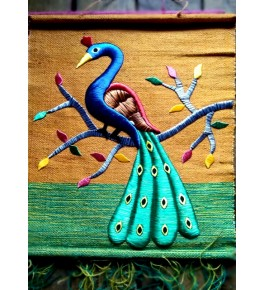 Beautiful Handmade Ghazipur Wall Hanging Patchwork of Peacock for Wall Decor