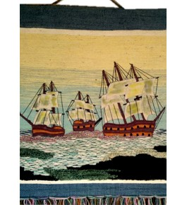 Ghazipur Patchwork of Sea & Boats Wall Hanging for Wall Decor