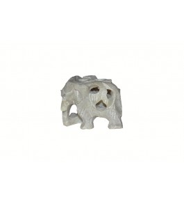 Varanasi Soft Stone Jali Work Elephant Showpiece