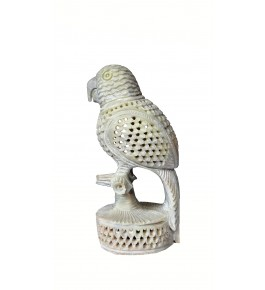 Varanasi Soft Stone Jali Work Parrot (Baby Parrot Inside) By Verma HandiCrafts