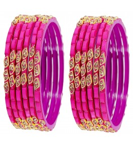 Firozabad Glass Beautiful & Designer Glossy Bangles For Women & Girls By New Make In India