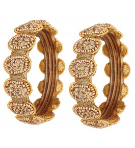 Beautiful & Trendy Round Design Glass Bangle/Kada Set For Women & Girls By New Make in India