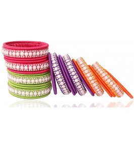 Fashionable & Trendy Silk Thread & Lace Bangle For Women By New Make In India